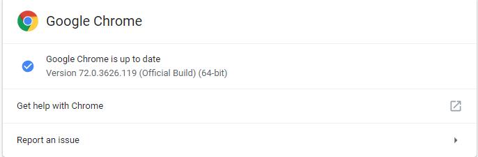 Google Chrome 72.0.3626.119