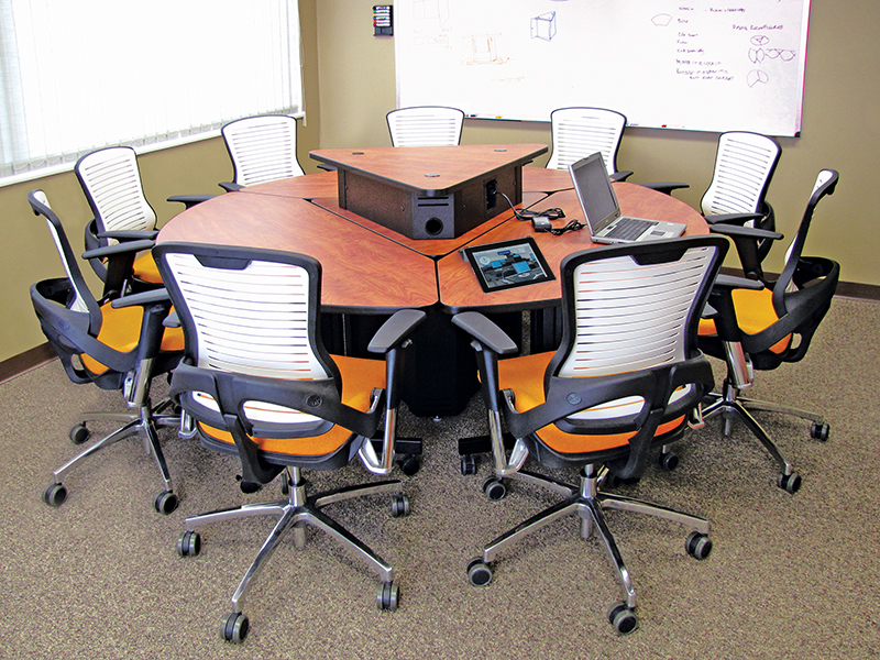 Collaborative Classroom Tables ~ Spectrum industries round collaboration table genius