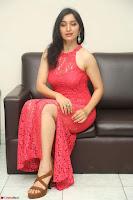 Sakshi Kakkar in Red Legsplit Sleeveless Gown at Dare movie Press meet ~  Exclusive 021.JPG