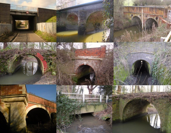 Image: montage of photographs of North Mymms bridges taken by Peter Miller