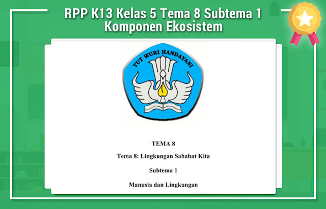 RPP K13 Kelas 5 Tema 8 Subtema 1 Komponen Ekosistem