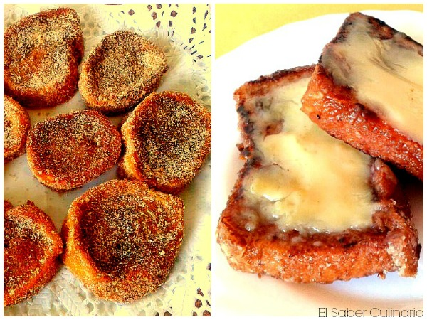 Torrijas de chocolate y torrijas con crema de naranja