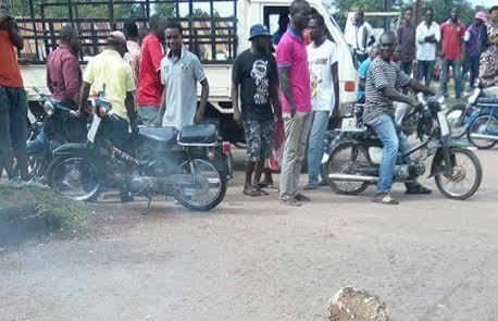 Photo: Man burnt to death for allegedly stealing a 3-month-old baby in Benue State