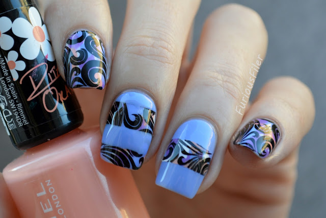 #31dc2015 partial stamping marble swirls MoYou London