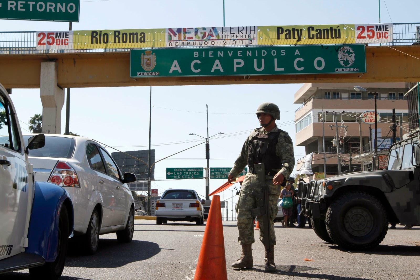 Levantan a 2 militares en Acapulco Guerrero