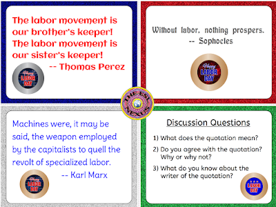 Students can discuss the meaning of quotations about labor with this freebie! | The ESL Connection