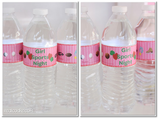 water bottle with girl sports night wrappers