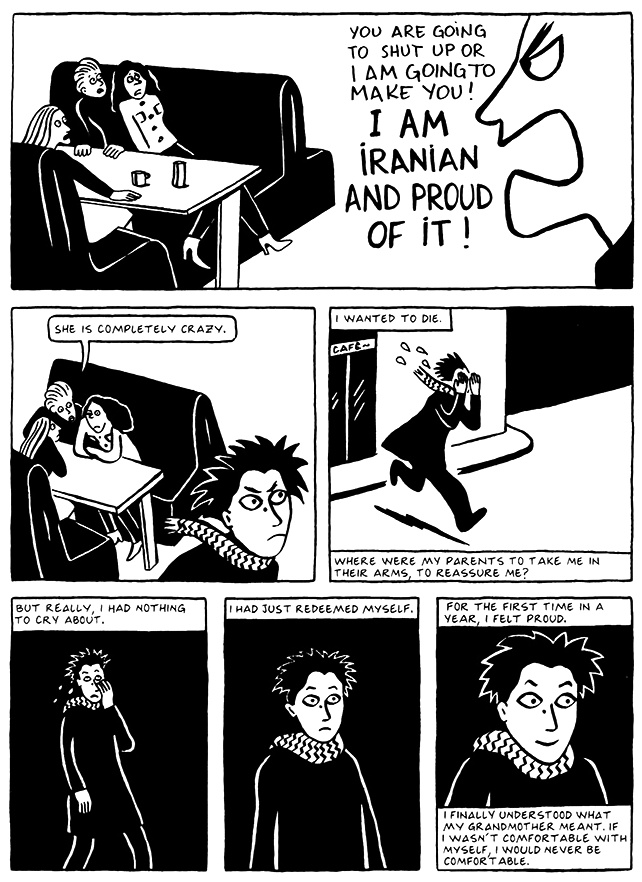 Read Chapter 5 - The Vegetable, page 43, from Marjane Satrapi's Persepolis 2 - The Story of a Return