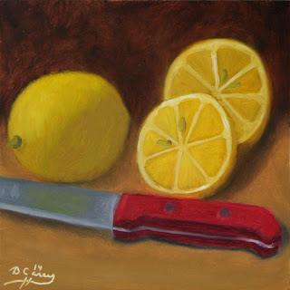 141113 - Kitchen Painting - Lemon 006a 6x6 oil on gessobord - Dave Casey - TheDailyPainter.jpg
