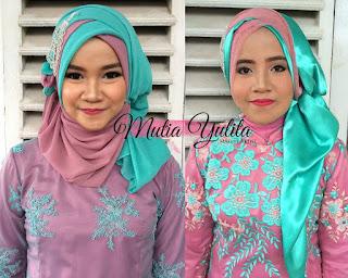 Kreasi Hijab 2 Warna