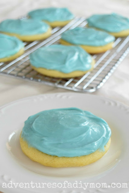 Sugar Cookies with Cream Cheese Frosting
