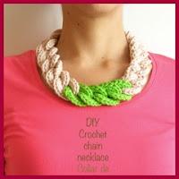 collar cadenas a crochet