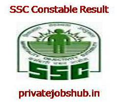 SSC Constable Result