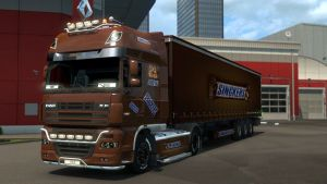 Snickers trailer and skin for DAF XF