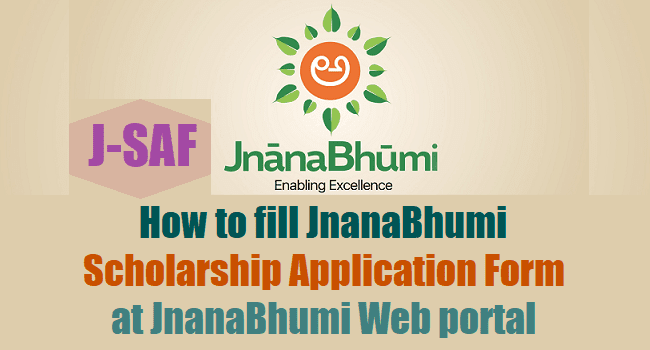 How To Fill Jnanabhumi Scholarships Application Formj Saf At