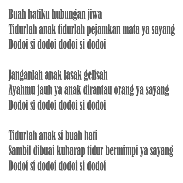 Budaya Adat Indonesia Lagu Daerah Jambi Lirik Injit Semut