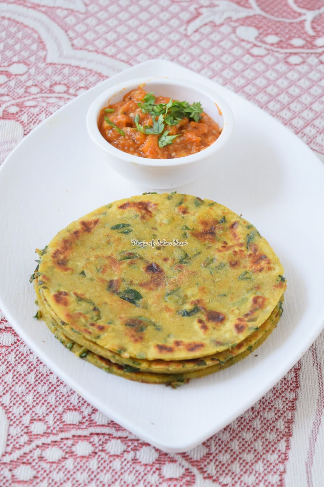 Jowar Aloo Methi Paratha Recipe - सर्दियों के लिए जोवर आलू मेथी पराठा  - Priya R - Magic of Indian Rasoi