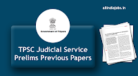 TPSC Judicial Service Prelims Previous Papers