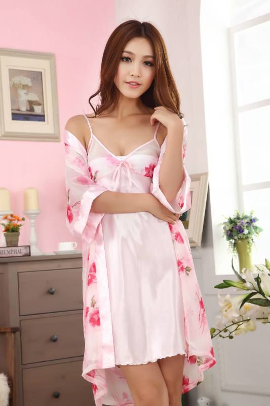 photo Kimono Lingerie SL1146 Flower Red