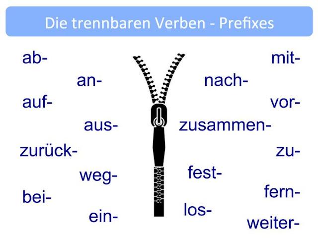 الأفعال المنفصلة في اللغة الألمانية TRENNBARE VERBEN