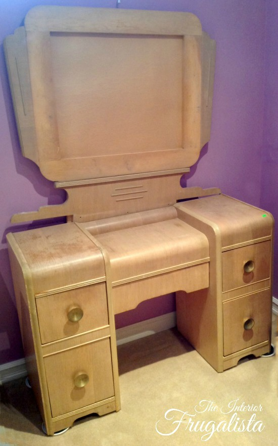Vintage Waterfall Vanity BEFORE
