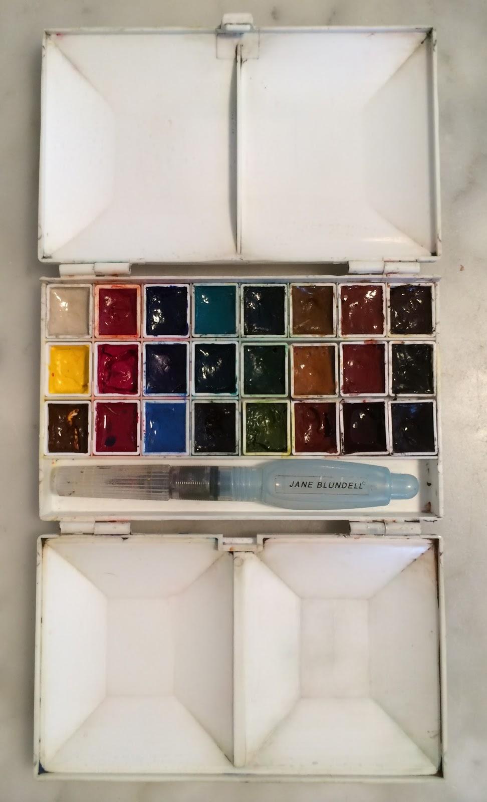 Gouache Pans : gouache, Blundell, Artist:, Watercolour, Gouache, Choices, Palettes, Painted