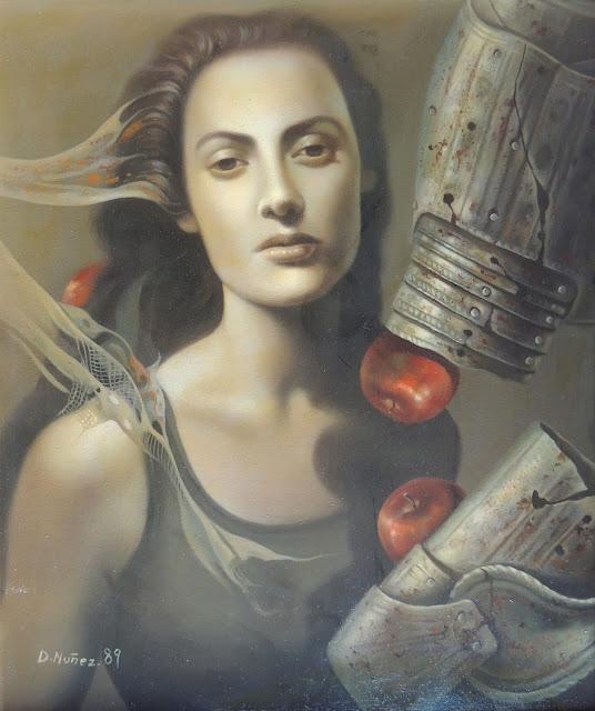 Dolores Nunez pintura surrealista en Gaudifond Arte