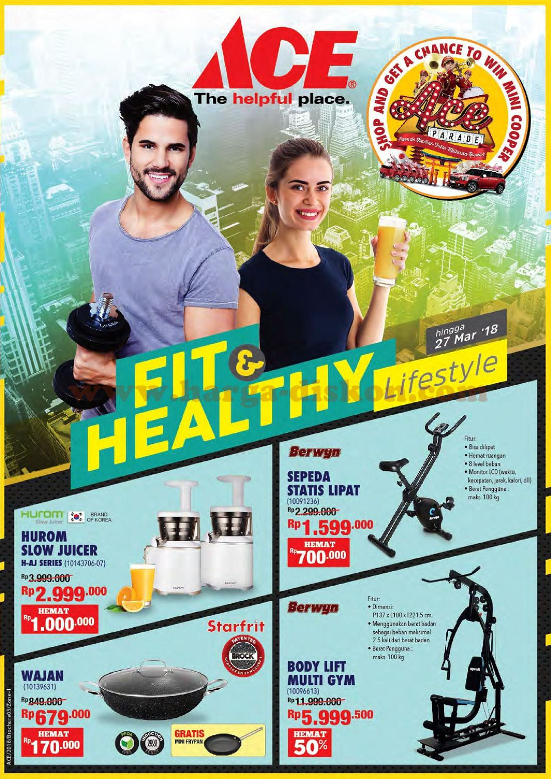 Promo ACE HARDWARE Terbaru Fit Amp Healthy Lifestyle Periode