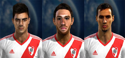 Faces: Pitty Martinez, Arzura, Emanuel Mammana, Pes 2013