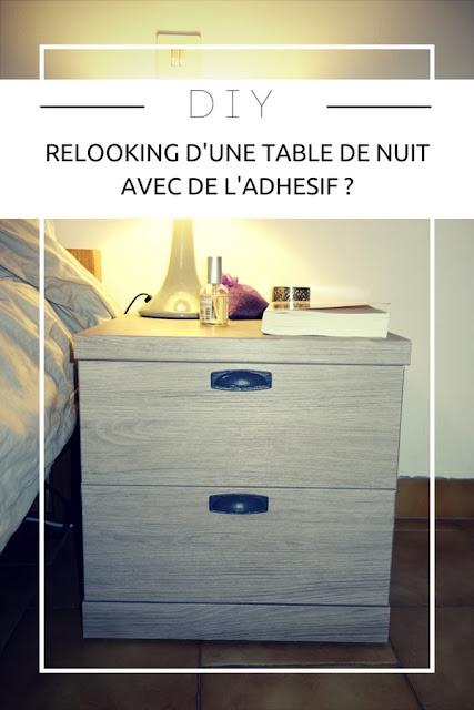 DIY : Comment relooker une table de nuit avec de l'adhésif ? Toutes les étapes et conseils ! www.by-laura.fr