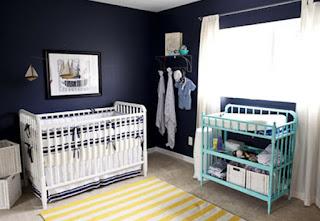 Dormitorio azul para bebé