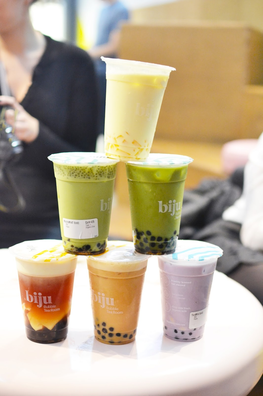 biju bubble tea, london bubble tea cafe