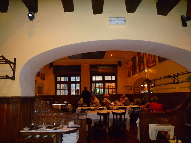 Sala del restaurante Agut de Barcelona
