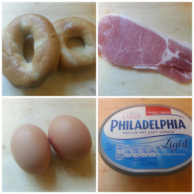 Bacon and Egg Bagel Ingredients