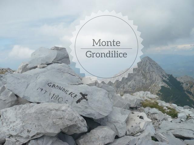 Ascesa al Monte Grondilice da Vinca. la vetta del Grondilice e sullo sfondo il Pizzo d'Uccello