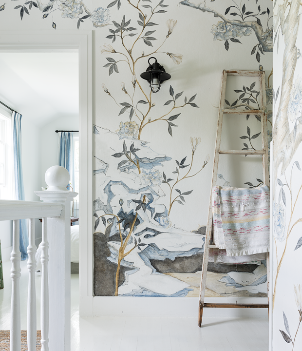 Decor on pinterest chinoiserie wallpaper chinoiserie for Chinoiserie mural wallpaper