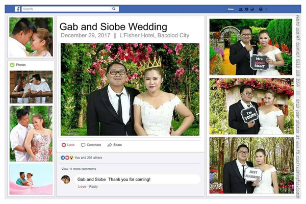 Bacolod wedding suppliers - wedding photobooth