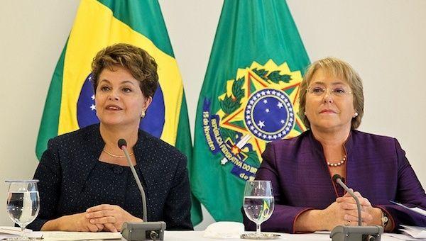 Presidentas de Chile y Brasil conversarán sobre derechos humanos