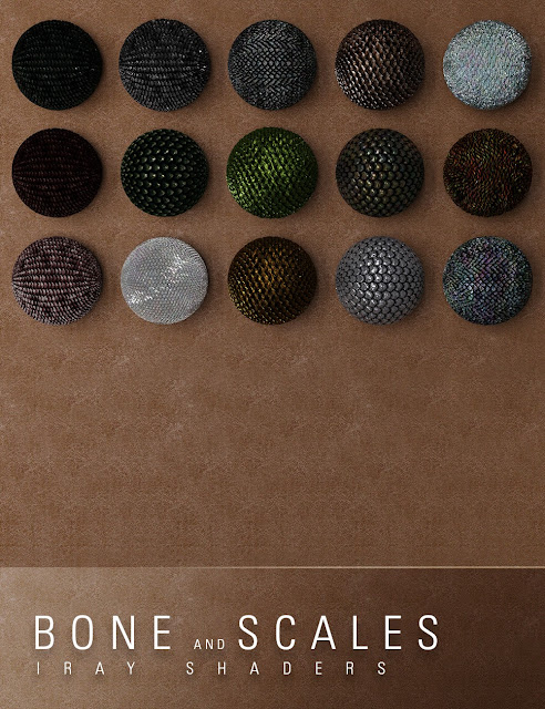 Bone and Fantasy Scale Iray Shaders