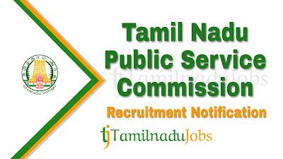 TNPSC Recruitment notification of 2019, govt jobs for chemist