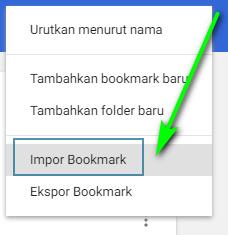 Impor Bookmark