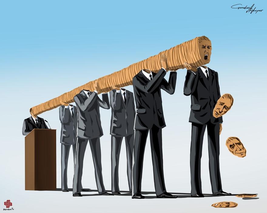 08-Gunduz-Agayev-Satirical-Illustrations-Shine-a-Light-on-Complex-Problems