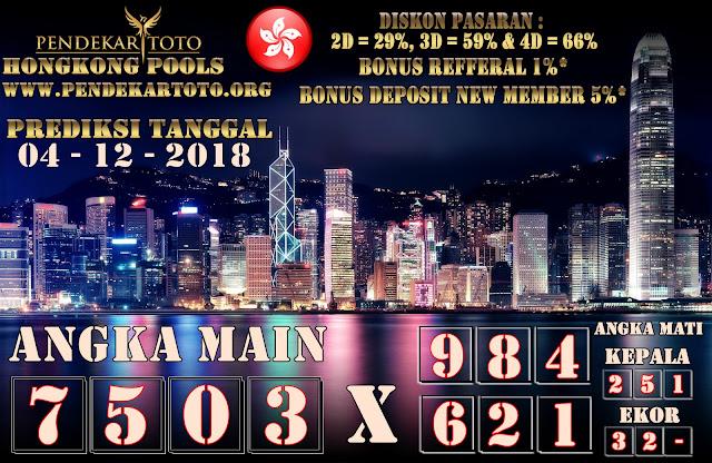 Prediksi Hongkong Tanggal 04 Desember 2018