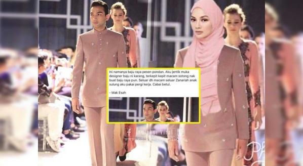 Pereka Fesyen Ajak Bersemuka Apabila Rekaannya Dikecam Seseorang Sebagai Koleksi Rekaan Aidil Fitri Fesyen Pondan