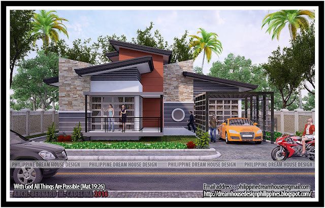 Philippine dream house design four bedrooms bungalow for 6 bedroom modern house