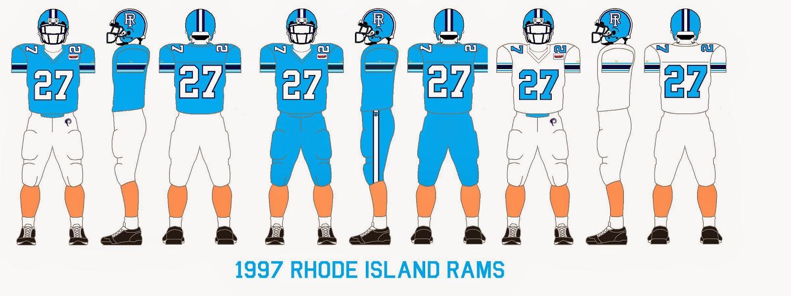 0317ae19 Gridiron Garb: Rhode Island Rams (1997-99)