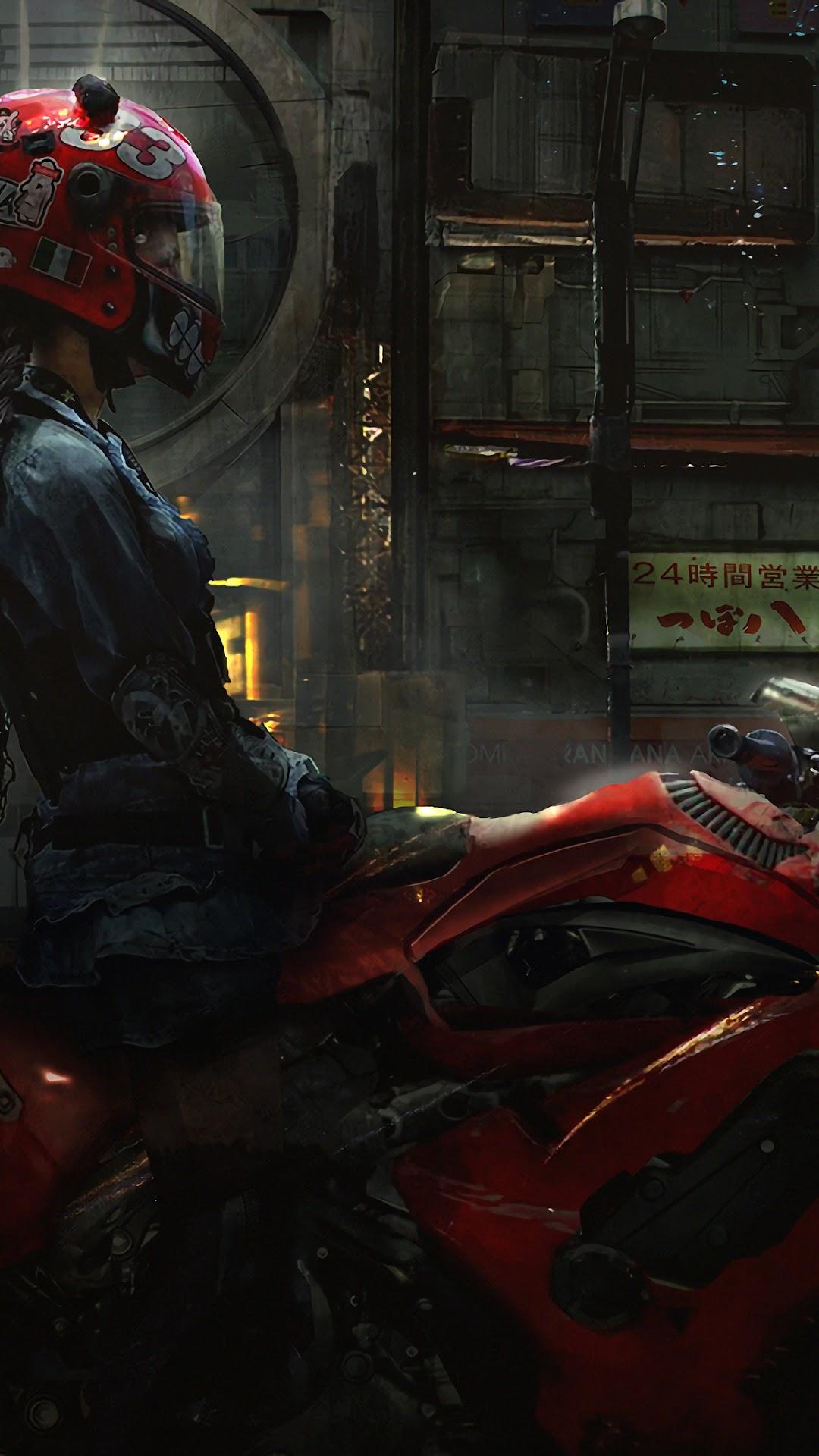 Cyberpunk Sci Fi Motorcycle 4k Wallpaper 86