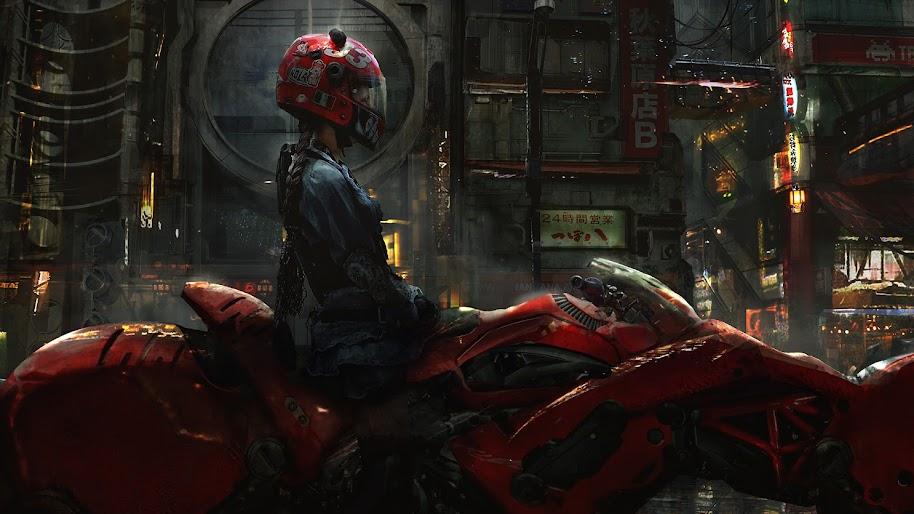 Cyberpunk, Sci-Fi, Motorcycle, 4K, #86