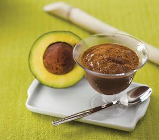 Mousse de chocolate com abacate