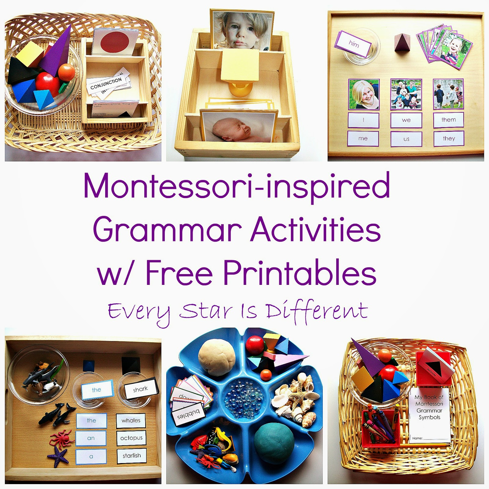 Montessori Inspired Grammar Activities